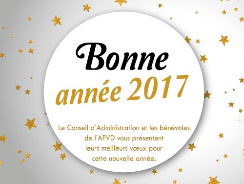 carte de voeux association MEILLEURS VŒUX POUR 2017   AFVD   Association Francophone pour